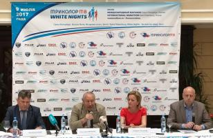 Press conference of the XVIII International TRICOLOT TV White Nights Marathon